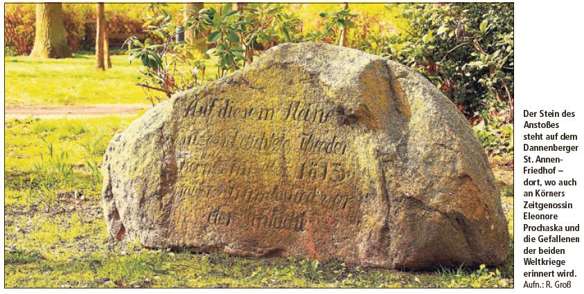 Anstoß an einem Stein