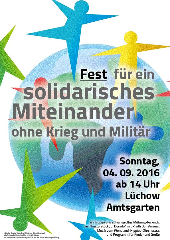 Fest für ein Solidarisches Miteinander ohne Krieg und Militär