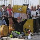 """""""Einlagerungsstopp für das Abfalllager"""" – Protestaktion vor dem Zwischenlager"""