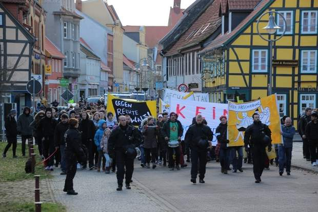 Demonstration in der Innenstadt