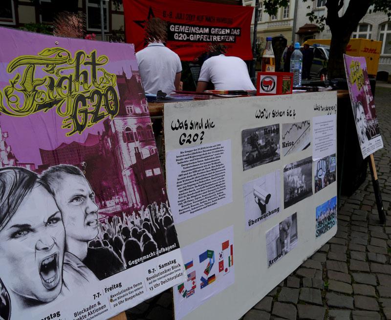 Fight G20 – Bericht zur Kundgebung und der Mobilisierung in Burg!