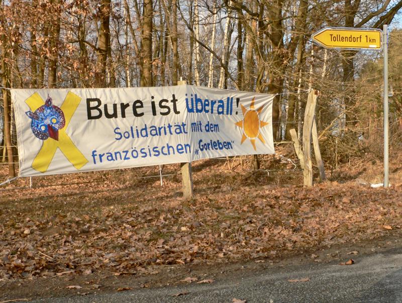 Solidarität mit Bure im Wendland.
