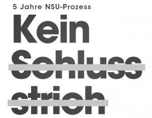 Demonstration in Lüneburg am Tag der Verkündung des Urteils im NSU-Prozess