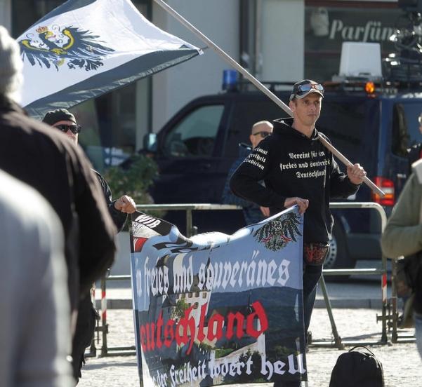 """27.10.2018: Rechtsextremer """"Sternmarsch"""" in Tangermünde"""