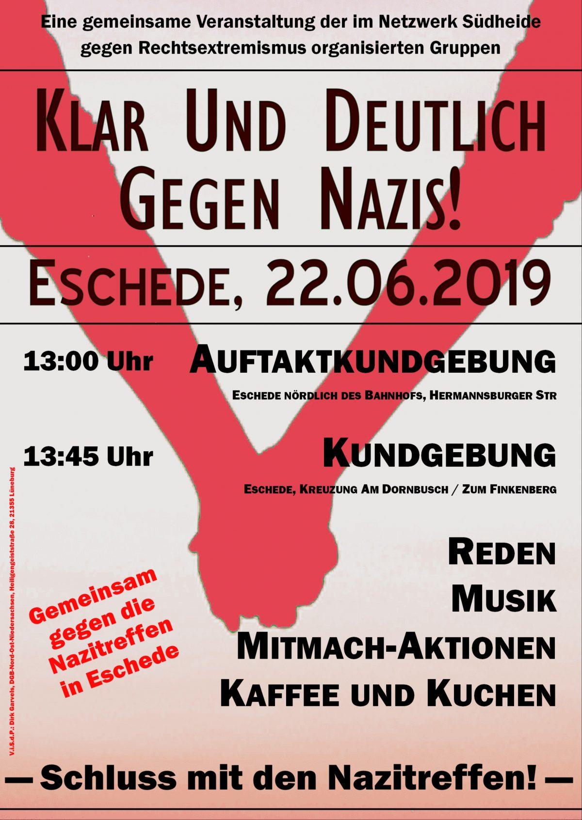 Klar und deutlich gegen Nazis! 22.6.2019