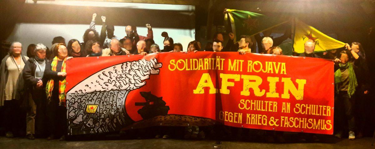 Wendland/Altmark-Soli demonstriert und sendet Grüße nach Afrin